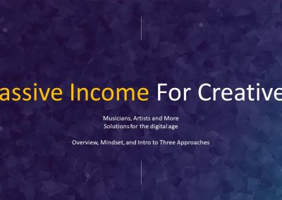 Passive Income for Creatives